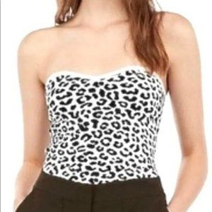 EXPRESS Leopard Print Tube Top Size S